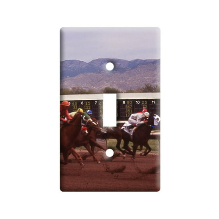 Horse Race Racing Light Switch Plate Cover Horse Racing Cover