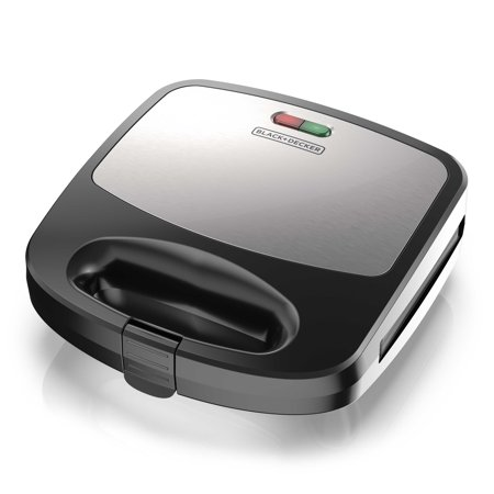 BLACK+DECKER 3-in-1 Morning Meal Station™ Waffle Maker, Grill, or Sandwich Maker, Black/Silver,