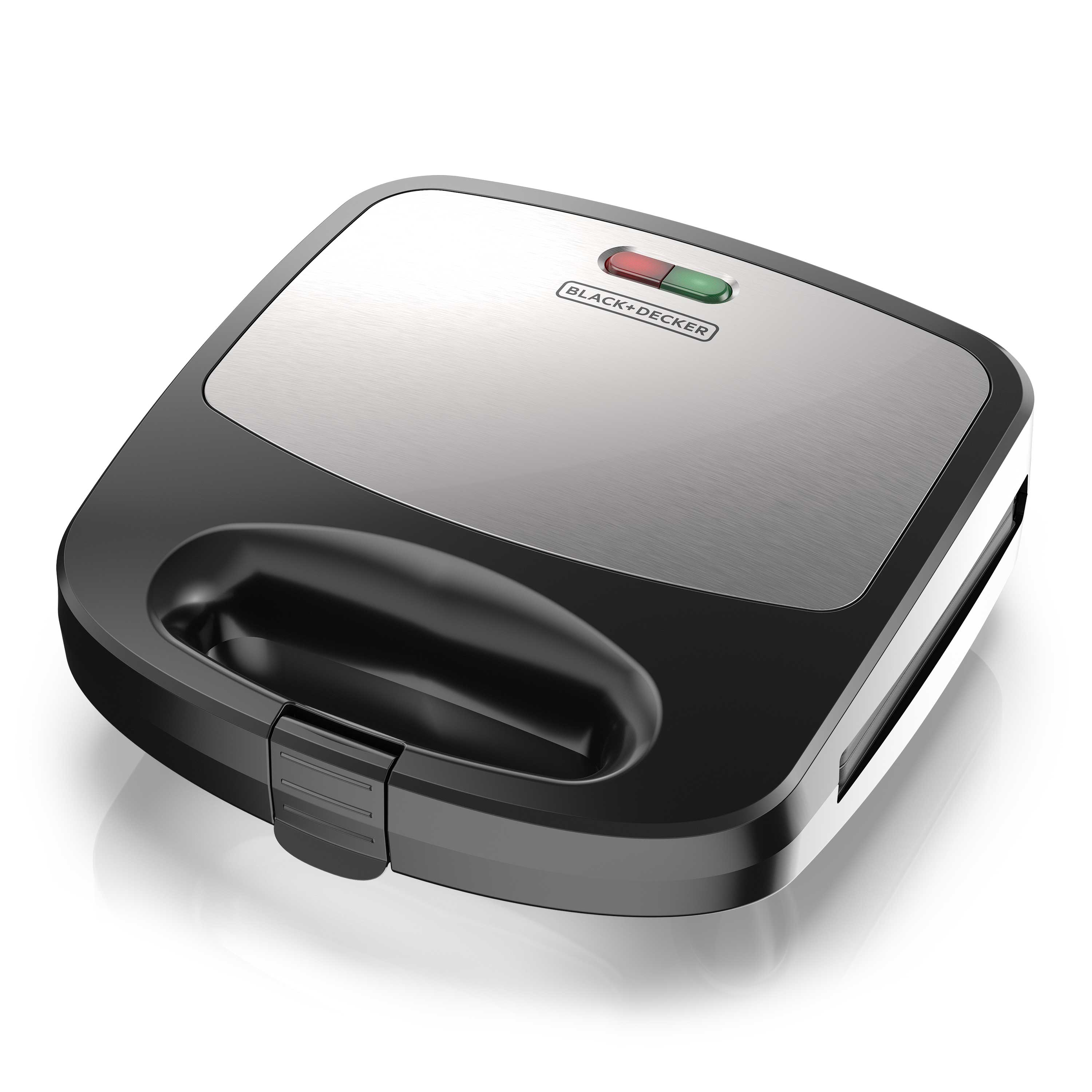 BLACK+DECKER 3-in-1 Morning Meal Station™ Waffle Maker, Grill, or Sandwich Maker, Black/Silver, WM2000SD