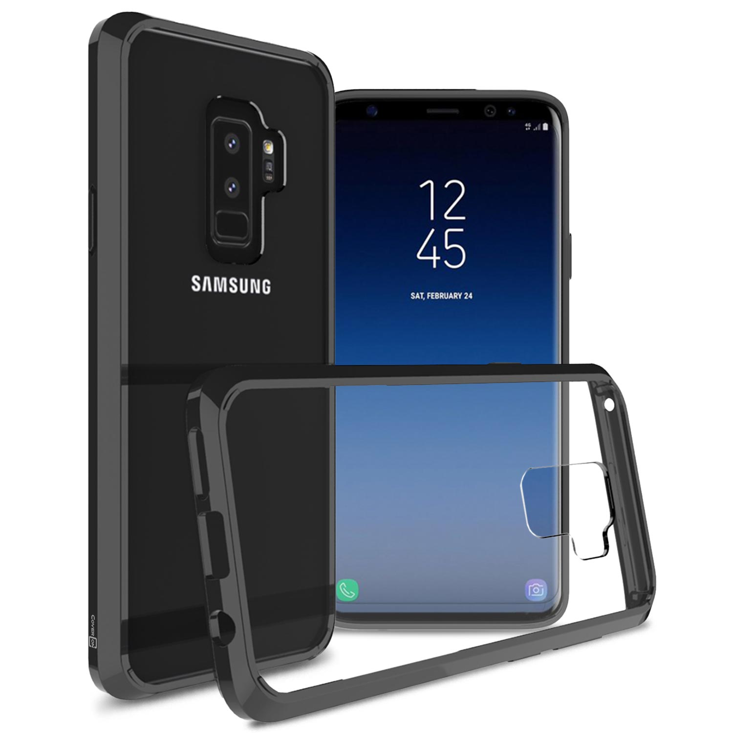 CoverON Samsung Galaxy S9 Plus Case, ClearGuard Series Clear Hard Phone Cover