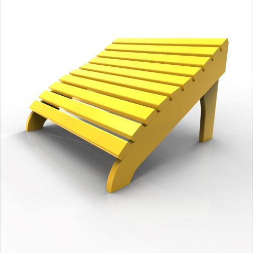 Contour Footstool by Malibu Outdoor, Yellow