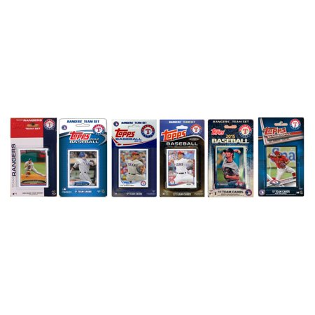 Texas Rangers Baseball Cards (C & I Collectables MLB Texas Rangers 5 Different Licensed Trading Card Team)