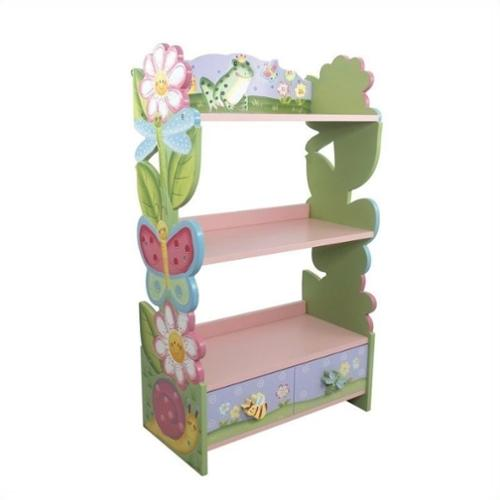 Fantasy Fields Hand Painted Magic Garden Bookshelf