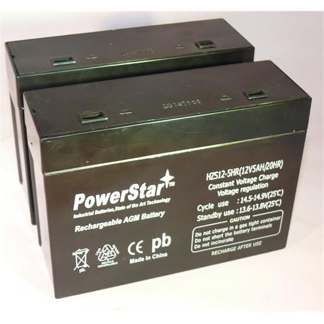 PowerStar HZS12-5-2Pack APC RBC21 UPS Back-Up Battery Cartridge No. 21 - 12V, 5.0 Ah