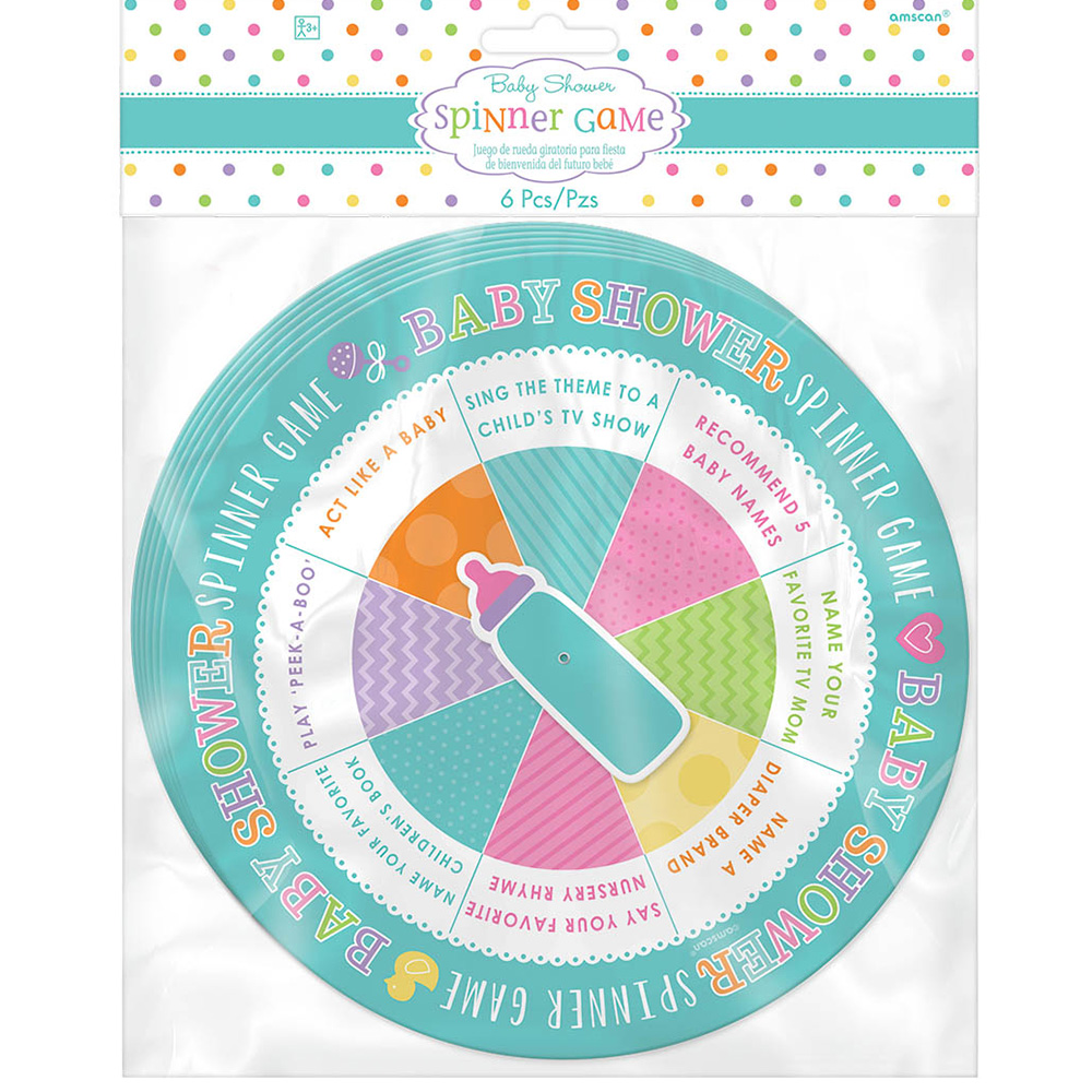 Baby shower spinner game 6 count party supplies walmart com