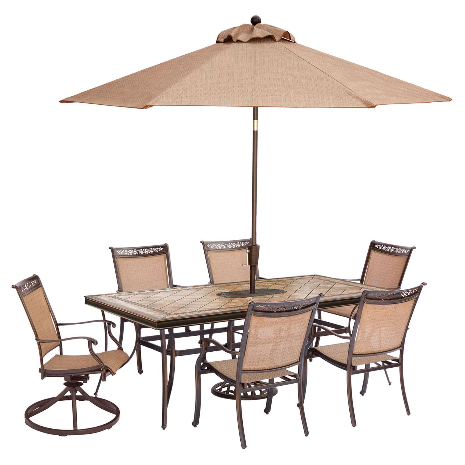 Outdoor Dining Sets With Swivel Rocker Chairs
