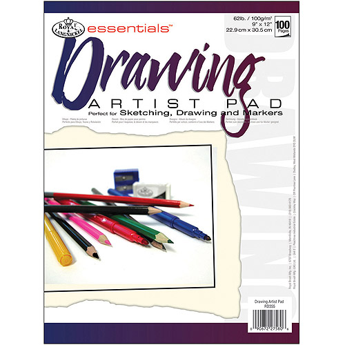 "Royal Brush Essentials Artist Paper Pad, 9"" x 12"", Drawing, 100 Sheets"