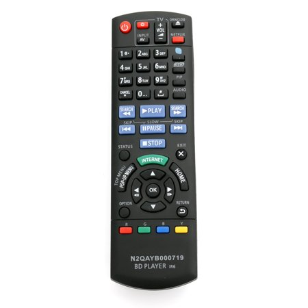 New N2QAYB000719 Remote Control fits For Panasonic Blu-ray Disc DVD Player DMP-BDT220CP