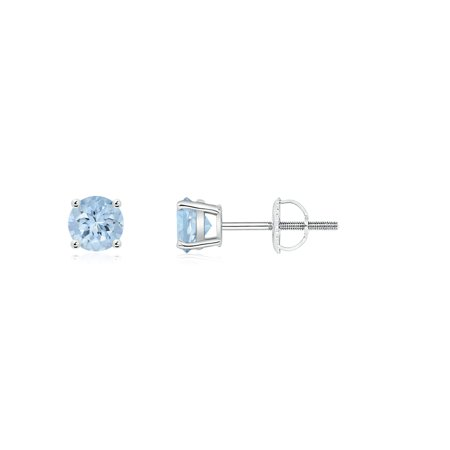 8565ea1c9 Angara - Mother's Day Jewelry Sale - Round Aquamarine Stud Earrings in  Platinum (3mm Aquamarine) - SE0229AQ-PT-AA-3 - Walmart.com