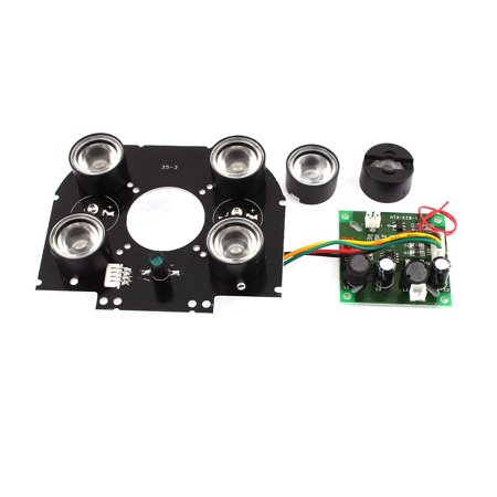 Unique Bargains Array 6 High Power Infrared IR LED Light Board Module For  CCTV Camera