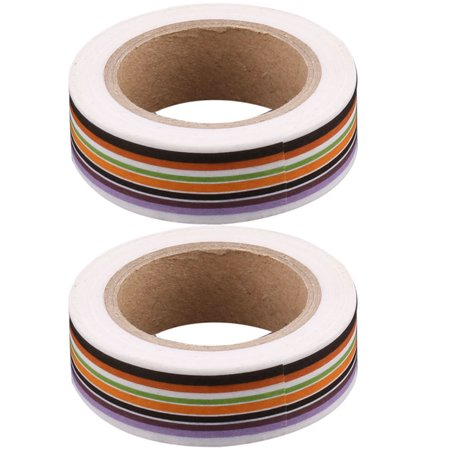 Decorative Tape (School Stripe Print Stationery Box Paperboard Sticker Washi Tape Decorative)