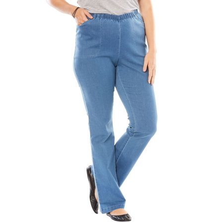 Woman Within Plus Size Bootcut Fineline Jean