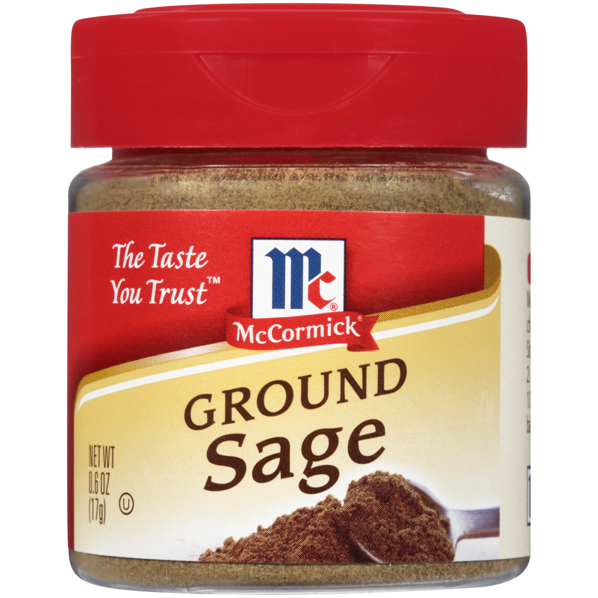 (2 Pack) McCormick Ground Sage, 0.6 oz