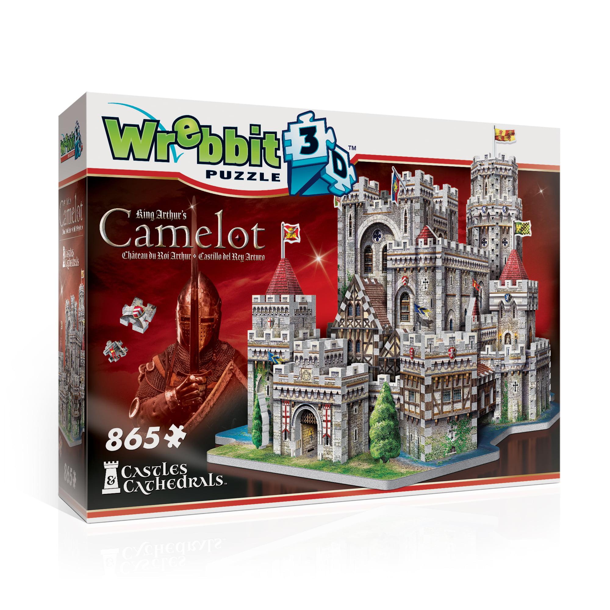 King Arthur's Camelot 3D Puzzle: 865 Pcs by Wrebbit Puzzles, Inc.