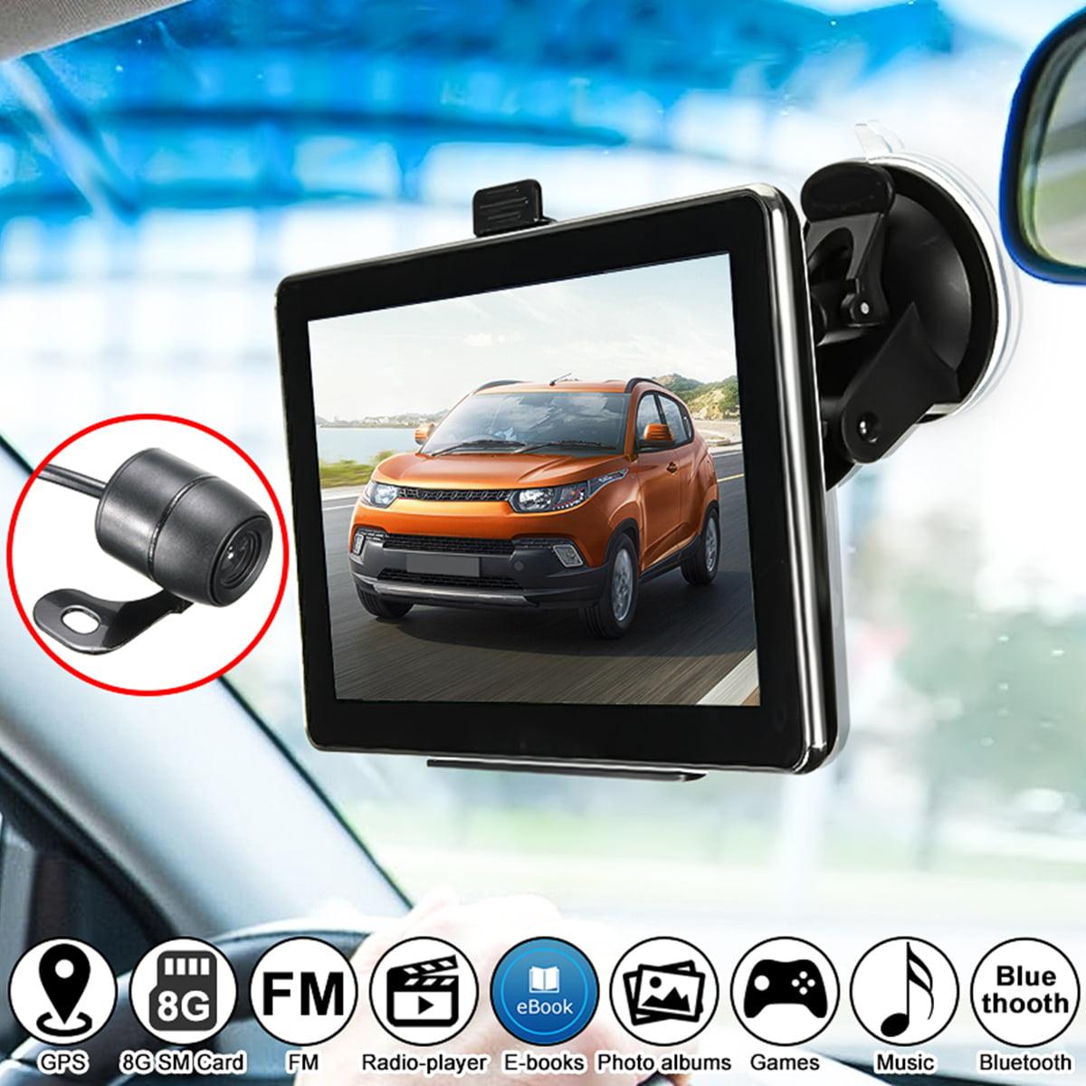 "7"" 8GB Capacitive Car GPS Navigation System Sat Nav Wireless Backup Rear View"