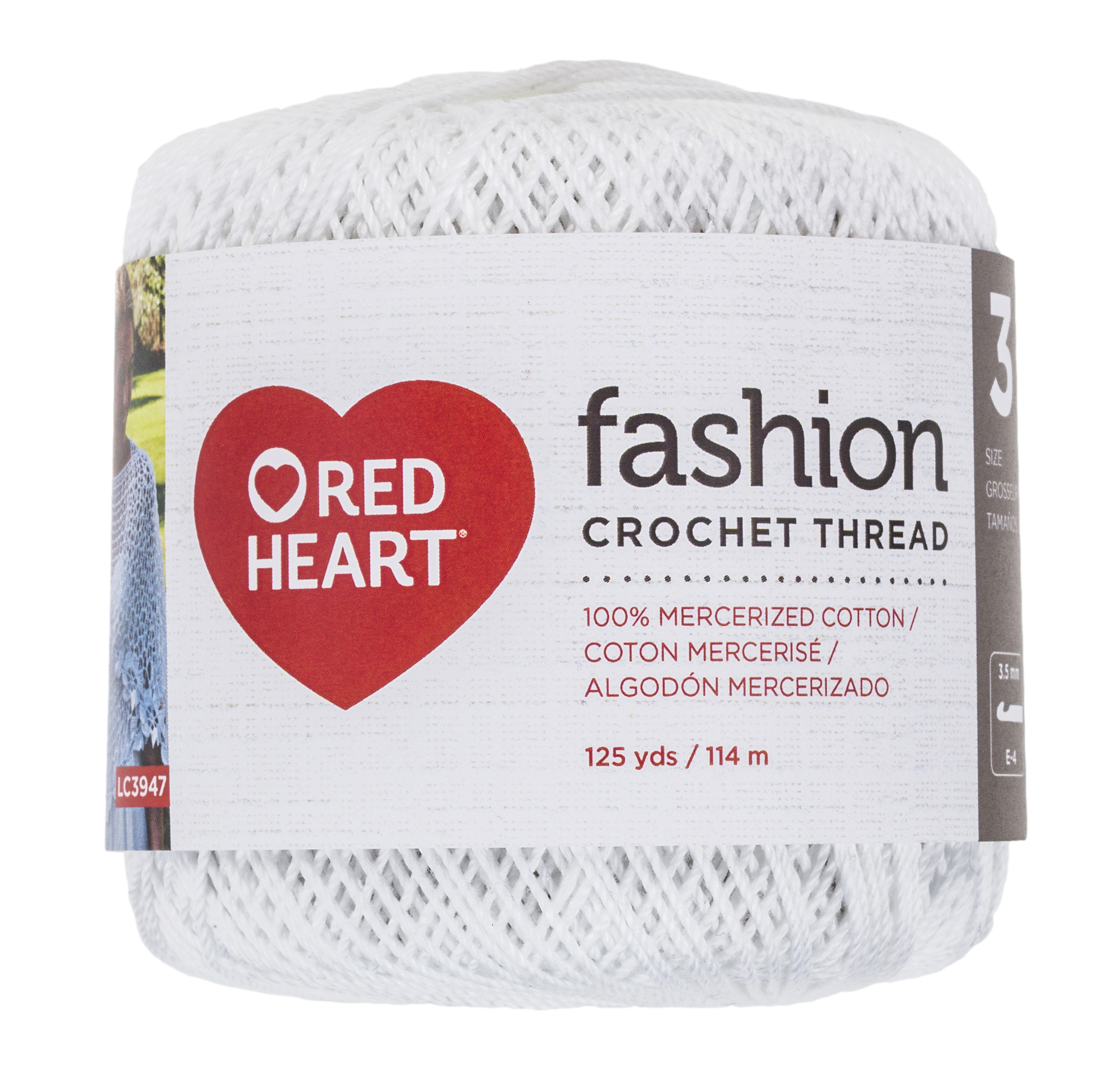 RED HEART FASHION SIZE 3 WHITE