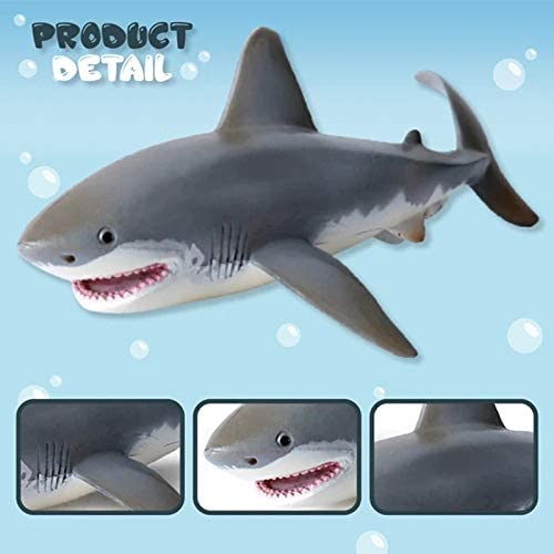17cm-Lifelike Shark Shaped Toy Realistic Motion Simulation Animal Model for Kids
