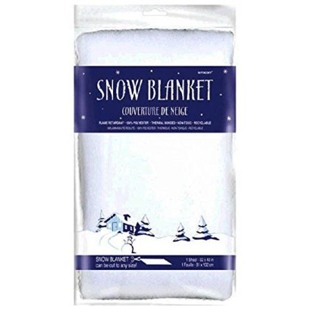 Amscan Winter Wonderland Christmas Party Snow Blanket (1 Piece), White, 40