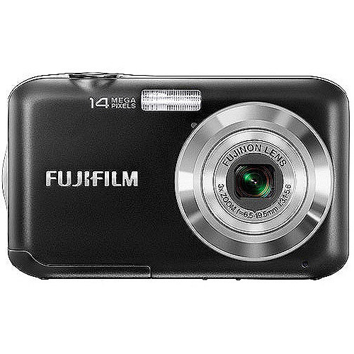 Fujifilm FinePix JV200 14 MP Digital Camera with Fujinon 3x Optical Zoom Lens (Black)