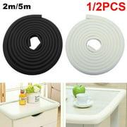 Willstar 1/2PCS 2/5M L Type Baby Safety Products Kids Bumper Strip Corner Protector Table Edge Foam Corner Cushion Strip