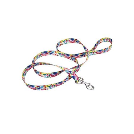 Coastal Pet 2631-WBB Pet Attire Styles Leash, White, Black Bubble - 0.75 in. x 6 ft.