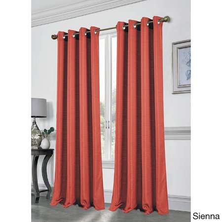 Dainty Home Antique Silk Window Curtain Panel, Set of 2, 96