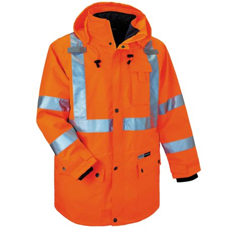 Ergodyne GloWear® 8385 Type R Class 3 4-in-1 Jacket, Orange, M