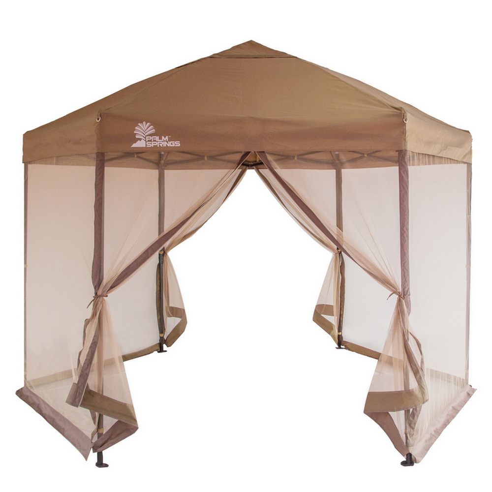 Palm Springs Hexagonal Pop Up Canopy Tent with Mesh Walls  sc 1 st  Walmart & Palm Springs Hexagonal Pop Up Canopy Tent with Mesh Walls ...