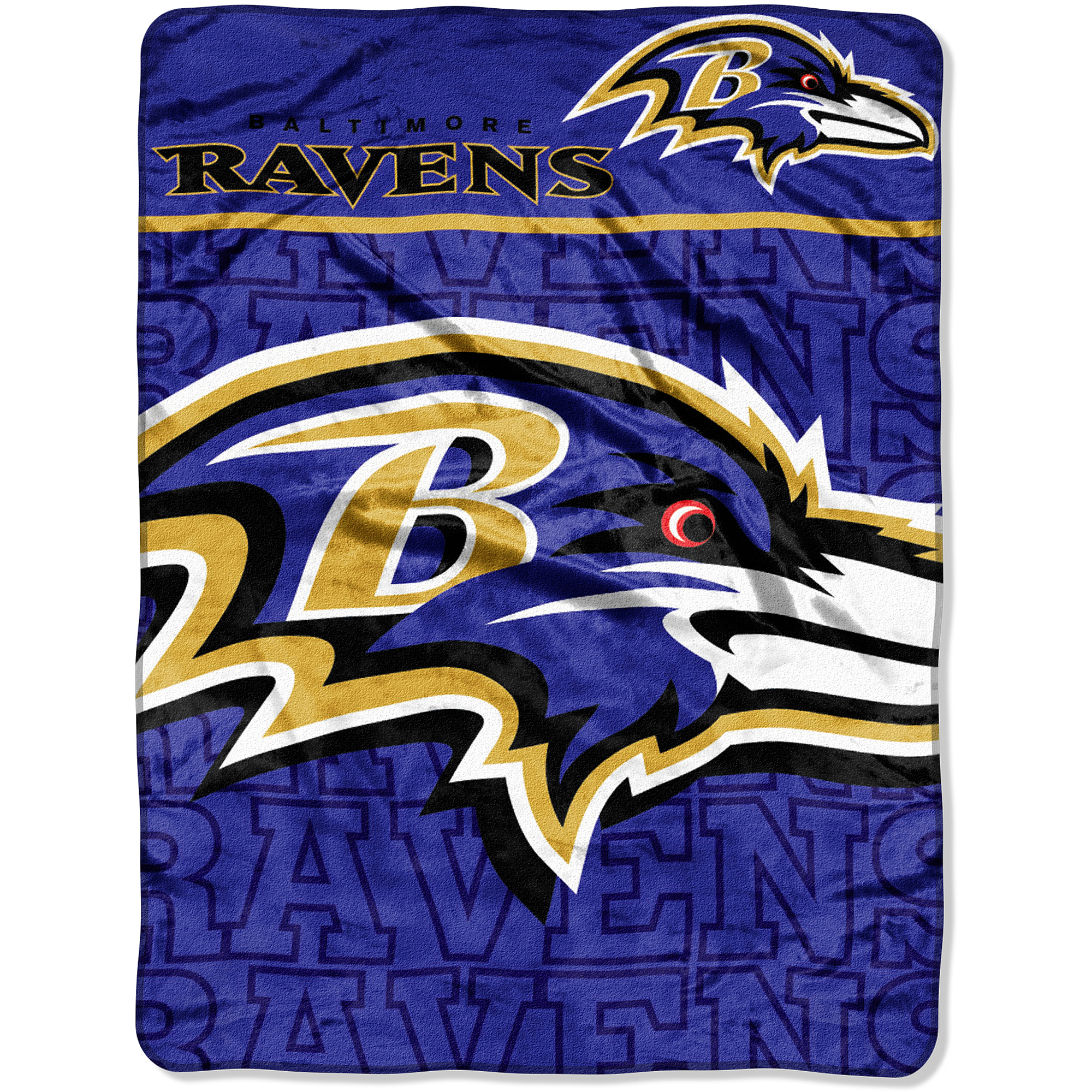 NFL Ravens 46x60 Micro Raschel Throw