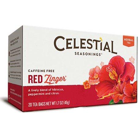 Black Cherry Berry Herb Tea - Red Zinger Tea Celestial Seasonings 20 Bag