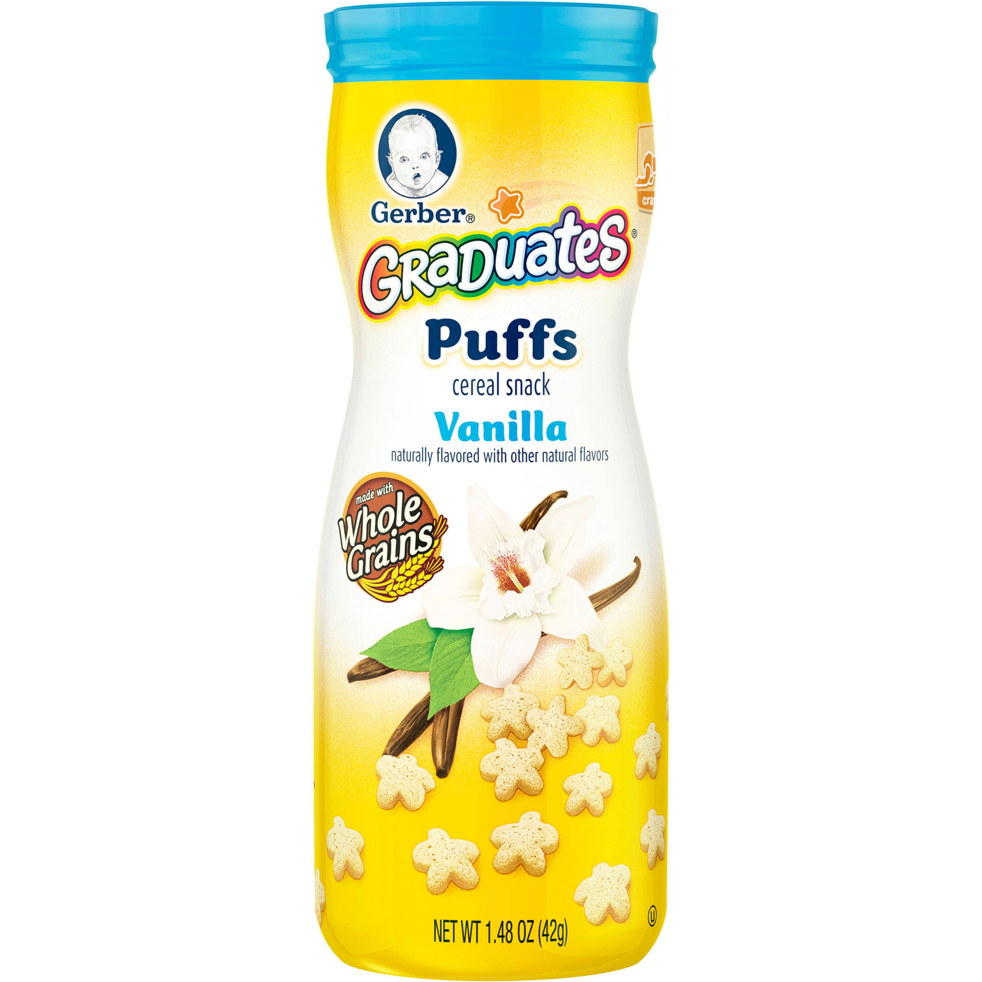 Gerber Graduates Puffs Cereal Snack, Vanilla, Naturally Flavored with Other Natural Flavors, 1.48 Ounce, 6 Count