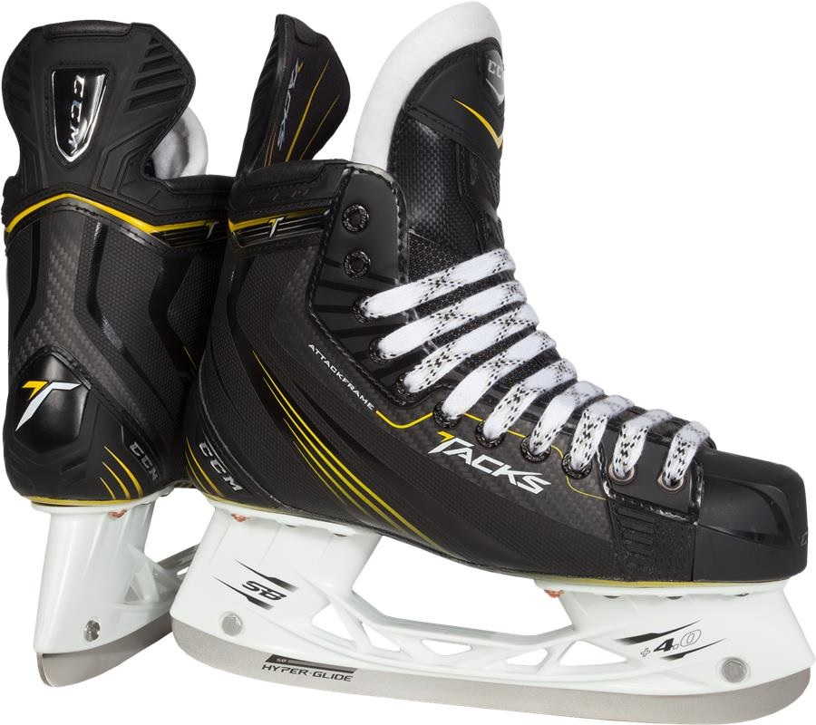 New CCM TACKS 5052 SKJ60 Junior 5 D Black Yellow Ice Hockey Skates Youth by CCM