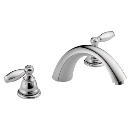 Peerless Claymore Two Handle Roman Tub Faucet Trim in Chrome PTT298696