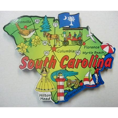 South Carolina The Palmetto State Decowood Jumbo Fridge Magnet