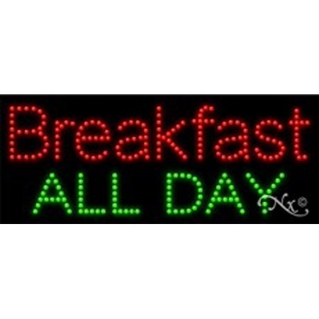 Breakfast All Day Led Sign  High Impact  Energy Efficient