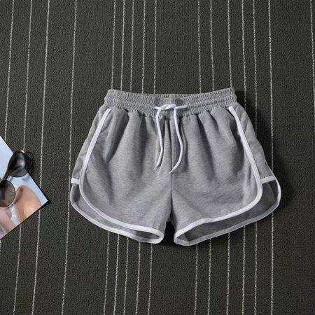 Women High Waist Drawstring Wide Leg Casual Sport Shorts Loose Workout Shorts - image 1 of 5