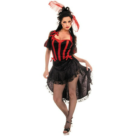 Can Can Black and Red Adult Halloween - French Cancan Costume