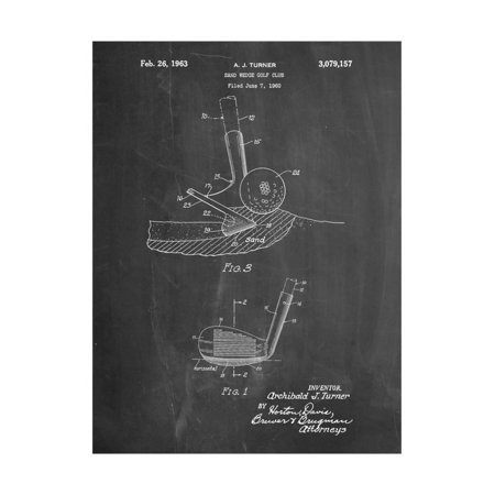 Golf Sand Wedge Patent Print Wall Art By Cole