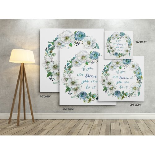 Ivy Bronx 'Dream Wreath' Graphic Art Print on Wrapped Canvas