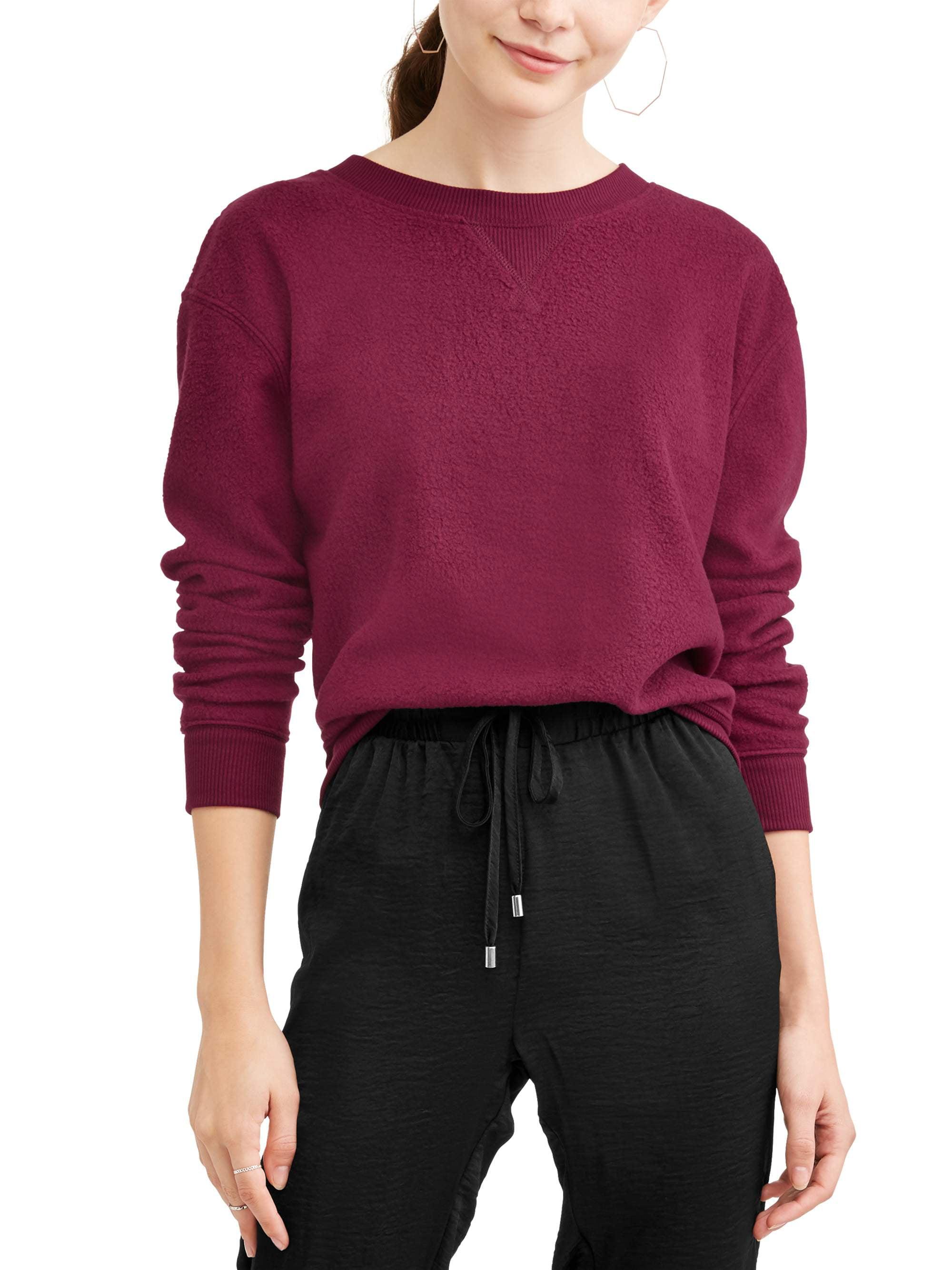 No Boundaries Juniors' Crewneck Raglan Sleeve Pullover Sweatshirt