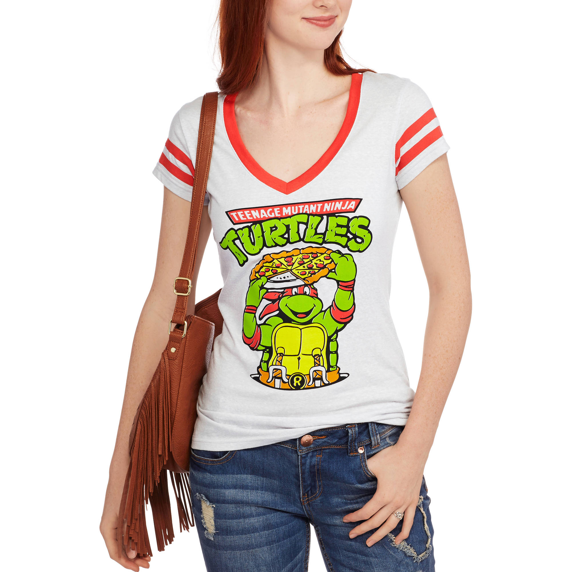 "Teenage Mutant Ninja Turtles Juniors' ""TMNT"" Graphic V-Neck Tee"