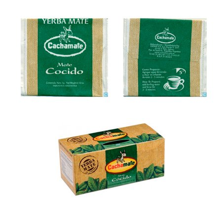 Cachamate Mate Cocido 25 Tea Bags Argentina Herbal Weight Loss Drink Detox Diet