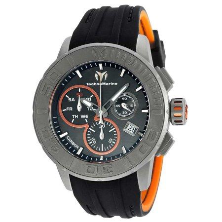 Technomarine TM-515001 Men's Reef Black Carbon Dial Black Silicone Strap Chronograph Watch