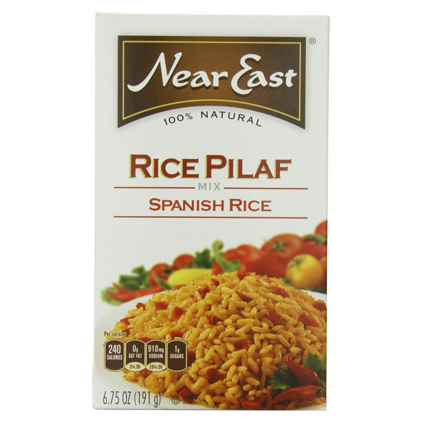 Near East Spanish Rice Pilaf Mix 6.75 oz Boxes - Pack of 12