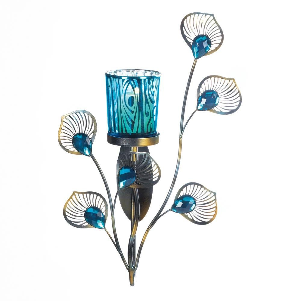 Wall Sconce Candle Holder, Modern Glass Holder Wall Sconce Candles Holder by Gallery of Light