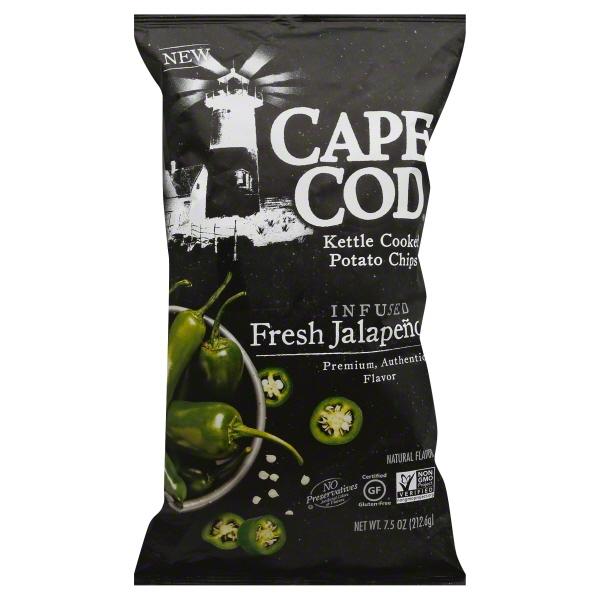 Cape Cod Kettle Cooked Infused Fresh Jalapeño Potato Chips, 7.5 Oz.