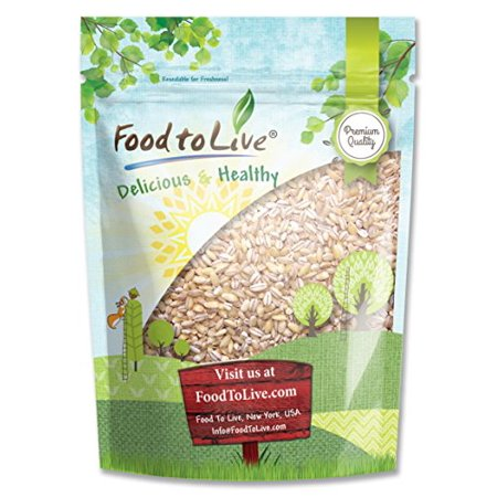 Pearled Barley, 2 Pounds - Kosher, Raw, Vegan - by Food to - Barley Finish