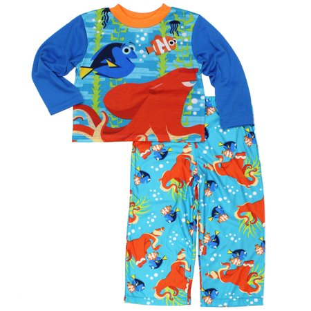 Finding Dory Nemo Boys Top with Flannel Pants Pajamas Set 21FY050BLL