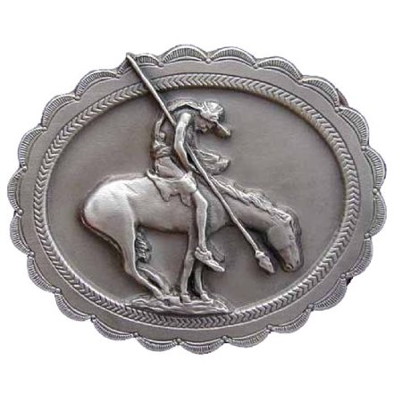 End Of The Trail Novelty Belt Buckle ()