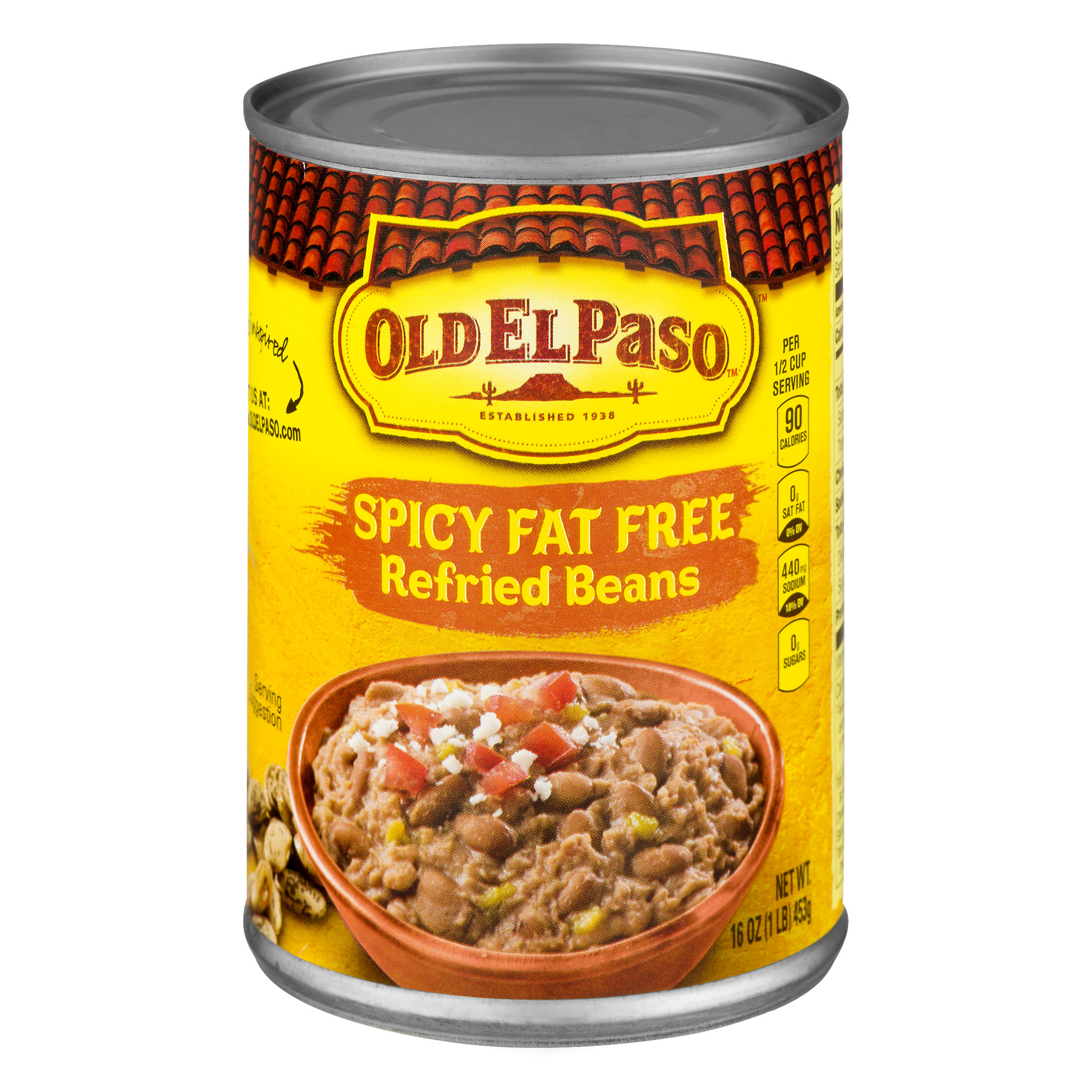 Old El Paso™ Spicy Fat Free Refried Beans 16 oz Can
